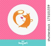 vector love card with happy... | Shutterstock .eps vector #173101559