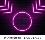 retro neon pine glowing arrows...   Shutterstock .eps vector #1731017113