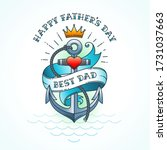 happy fathers day greeting card ... | Shutterstock .eps vector #1731037663