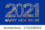 happy new year 2021. greeting...   Shutterstock .eps vector #1731038353