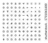 set of 100 ui icons for web and ...