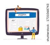 web design mockup vector...   Shutterstock .eps vector #1731068743