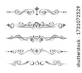 collection of hand drawn text... | Shutterstock .eps vector #1731072529