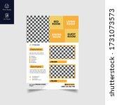 elegant real estate flyer home...   Shutterstock .eps vector #1731073573