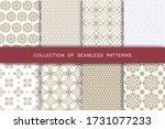 fabric print set. 8 seamless... | Shutterstock .eps vector #1731077233
