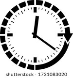 clock  icon vector design ...