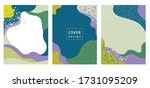 set of abstract creative... | Shutterstock .eps vector #1731095209