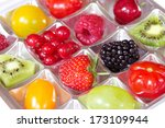 different fresh fruits in a...   Shutterstock . vector #173109944