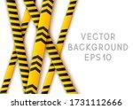 signal tape industrial border...   Shutterstock .eps vector #1731112666