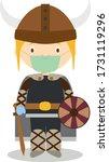 character from sweden  norway... | Shutterstock .eps vector #1731119296