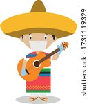 character from mexico dressed... | Shutterstock .eps vector #1731119329