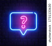 neon glowing question mark.... | Shutterstock .eps vector #1731133630