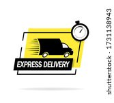 fast shipping. truck logo... | Shutterstock .eps vector #1731138943