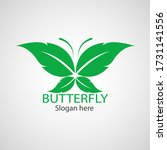 green butterfly leaf template... | Shutterstock .eps vector #1731141556