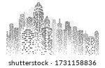 modern city skyline. city...   Shutterstock .eps vector #1731158836