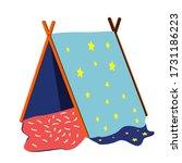 house for children made of wood ...   Shutterstock .eps vector #1731186223