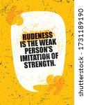 rudeness is the weak mans... | Shutterstock .eps vector #1731189190