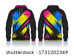 hoodie shirts template.jacket... | Shutterstock .eps vector #1731202369