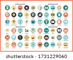 business icons set for business ... | Shutterstock .eps vector #1731229060