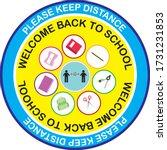 welcome back to school  keep... | Shutterstock .eps vector #1731231853