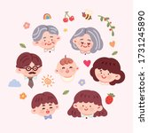 cute hand drawn style... | Shutterstock .eps vector #1731245890