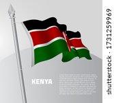waving flag of kenya on... | Shutterstock .eps vector #1731259969