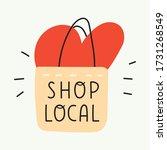 hand drawn illustration   shop... | Shutterstock .eps vector #1731268549