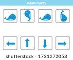 match cards. spatial... | Shutterstock .eps vector #1731272053
