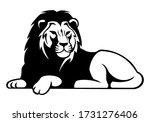 African Lion Lying Vector Image ...