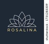 lotus line art logo design... | Shutterstock .eps vector #1731283309