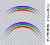 rainbow icon realistic. perfect ... | Shutterstock .eps vector #1731288799