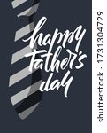 lettering happy father's day.... | Shutterstock .eps vector #1731304729