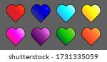set colored hearts with a... | Shutterstock .eps vector #1731335059