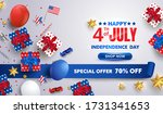 4th of july celebration poster. ... | Shutterstock .eps vector #1731341653