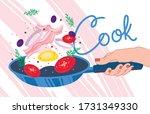 vector illustration. hand... | Shutterstock .eps vector #1731349330