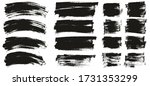 flat paint brush thin curved  ... | Shutterstock .eps vector #1731353299