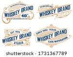 set of 4 old cards. western... | Shutterstock .eps vector #1731367789