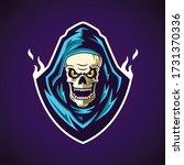 reaper head logo design in... | Shutterstock . vector #1731370336