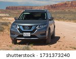 Small photo of Moab, Utah - August 30, 2019: 2020 Nissan Rogue SV AWD in Moab, Utah, United States.