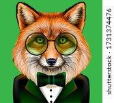 Fox. Creative  Colorful  Hand...