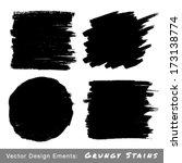 set of hand drawn grunge...   Shutterstock .eps vector #173138774