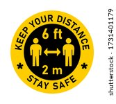 keep your distance stay safe... | Shutterstock .eps vector #1731401179