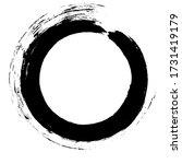 circle ink brush stroke ...   Shutterstock .eps vector #1731419179