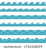 vector sea or ocean. simple... | Shutterstock .eps vector #1731428299