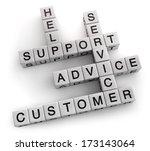 customer support service... | Shutterstock . vector #173143064