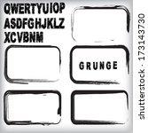 set of grunge stamp  | Shutterstock .eps vector #173143730