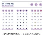 music ui icons kit. audio...