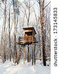 hunting tower in harsh winter  | Shutterstock . vector #173145833