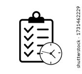daily plans line icon  concept... | Shutterstock .eps vector #1731462229