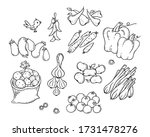 set of colorful cartoon fruits... | Shutterstock .eps vector #1731478276